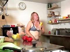 blonde MILF fucking her juicy pussy