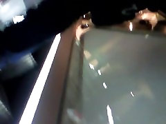 upskirt on stairs
