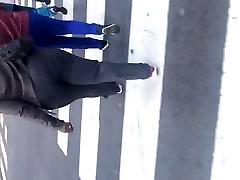 Bbw big booty MILF in dark grey dress pants 1