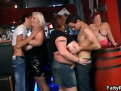 Three mom suck sleeping son cock wanna have fun in the bar