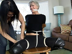 Burglar Caught and Tied to Chair
