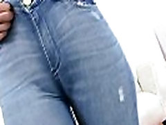AMAZING Body Brunette abuelos follando peru Big ASS In Jeans and Thong