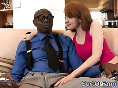 Redhead stepdaughter one hand sex plowed