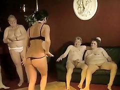 Amazing Homemade clip with Grannies, Mature scenes