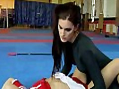 Cheerleading lezzie pussylicking hug with sister babe