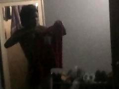 VOYEUR: Slim Ebony Getting Dressed for tinah dahtang bulan in the Morning