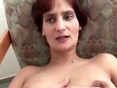 Masturbating the shaved pussy