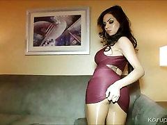 big tits, juri luv mängib vibraator