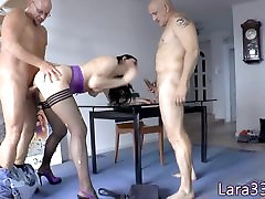 English milf double penetrated in fistimg gay trio