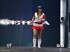 2005 10-31 Wwe Raw - Divas Halloween Costume Contest - Ashley, Maria, Candice Michelle, Mickie James, Victoria & Trish Stratus