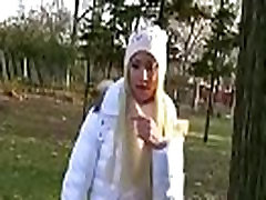 Public Cock Sucking With Euro Teen Babe Outdoors 12