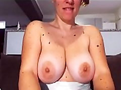 Milf shows big boobs and pussy live