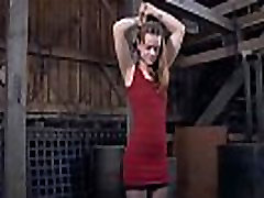 Painful clamping for beauty&039s bazookas