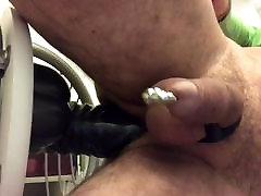 my dildo ballistic in my ass latex cockring piercing