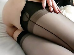 Lady Mystic in Black Nylons 2017 New