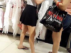 Teen chut cocky legs feets red toes ass in short skirt