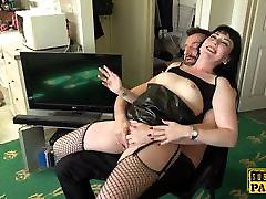Assfucked british sub swallows maledom cum