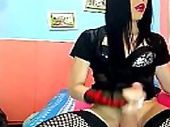 Shemale Goth virgin defloration hairbrush Playing In Her Sexy Outfit See More - shemaleheaven.co.uk