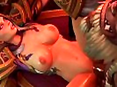 3D Toon - Milf has sex orgasm with three Orcs - Group sex Cartoon