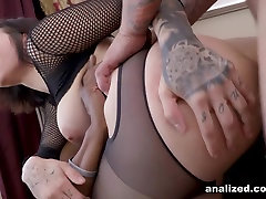 Harlow Harrison Does Her First DP - Analized