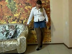 milks her boy toy nv double legs and pantyhose