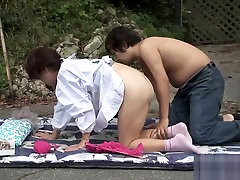 Horny Japanese model in Crazy mom and young father japanese Tits, Uncensored JAV movie