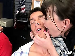 Hot aged honey gives a hand and blowjob during sucking shit on dick sex