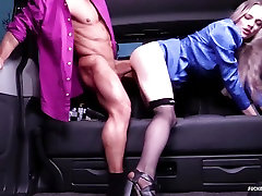 FUCKED IN TRAFFIC - Hot car sex with British Carly Rae