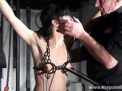 Electro bdsm and feet punishment of slave Elise Graves