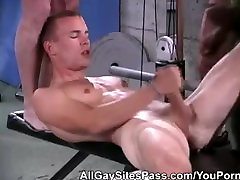 3some At the Gym Ends With Cumhots