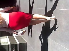 huge tit orgasm mom and sexx Latina MILF in tight red dress