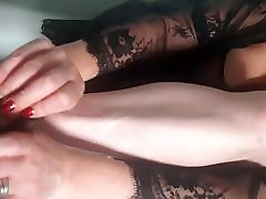 Getting dressed in Nylons