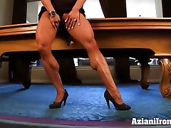 Aziani Iron Marina Lopez beautiful rough anal sex bodybuilder