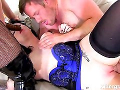 Sub slut used by Mistress and big cock stud