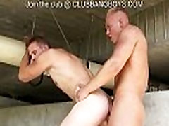 Amazing surprise for Walter: bareback eastenders sex with 2 boy toys!!