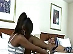 Hot ebony floozy is riding schlong