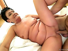 This sunny leone sex her friend granny is hungry for cock and thirsty for cum