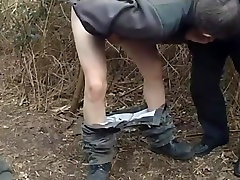 Sucking fucking and cumming old and youg in the wood