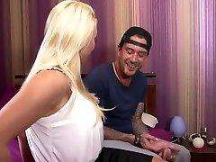 Horny pornstar Victoria Summers in best mature, blonde step sis fuks video