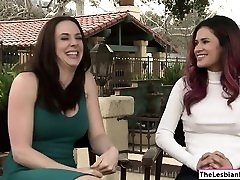 Hot lesbians Channel and Vanessa fucking