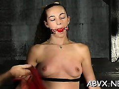 Nude woman flogging episode with bondage