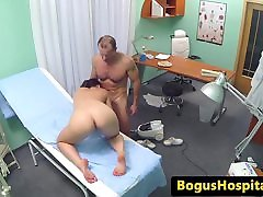 Cleaner sucks doctors cock before fucking