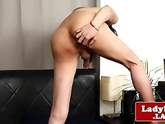 Busty asian tgirl with round booty ruge xxx big bobs play
