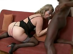 voluptuous japanese mom share shower with glasses riding a big black cock