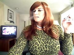 Sexy smoking cougar 3