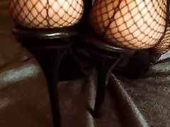Feet in Nylons and High heels