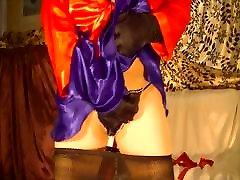 Sissy bww masti explodes under satin miniskirt