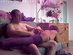 Sa premiere fessee 6 Her first spanking