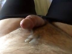 Sissy diddling and cumming while riding a dildo