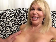 Mature blonde Erica Lauren shows off her toboo family secret and fucks